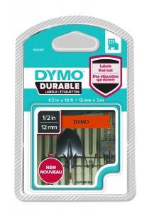 Dymo D1 DURABLE 1978367 Black on Orange - 12mm