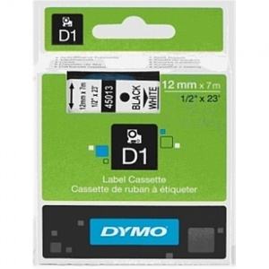 Dymo 45013 Black On White - 12mm
