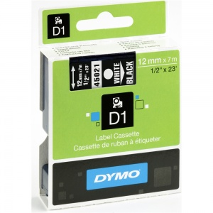 Dymo 45021 White On Black - 12mm