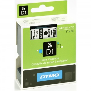 Dymo 53713 Black On White - 24mm