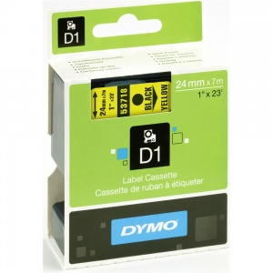Dymo 53718 Black On Yellow - 24mm