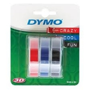 Dymo S0847750 Embossing Pack (3 Tapes) - 9mm