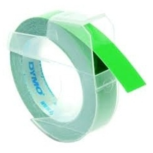 Dymo S0898160 White On Green Embossing - 9mm