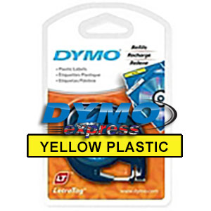 Dymo 91202 Yellow Plastic LetraTAG Tape