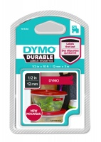 Dymo D1 DURABLE 1978366 White on Red - 12mm