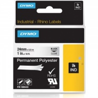 Dymo Rhino 1805433 Black on Clear Polyester Tape - 24mm - DISCONTINUED