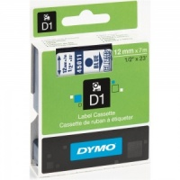 Dymo 45011 Blue On Clear - 12mm