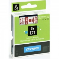 Dymo 45012 Red On Clear - 12mm