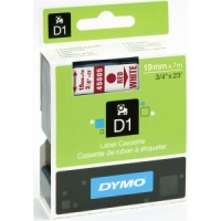 Dymo 45805 Red On White - 19mm