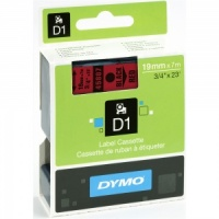 Dymo 45807 Black On Red - 19mm