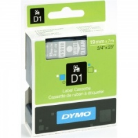 Dymo 45810 White On Clear - 19mm - DISCONTINUED