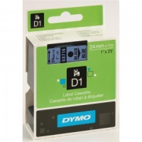 Dymo 53716 Black On Blue - 24mm - DISCONTINUED
