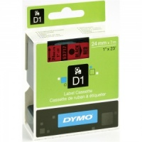 Dymo 53717 Black On Red - 24mm