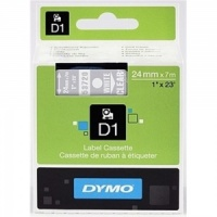 Dymo 53720 White On Clear - 24mm