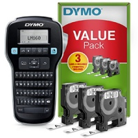 Dymo LabelManager 160  Label Maker - Value Pack (3 free tapes)