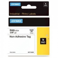 Dymo Rhino 18115 Yellow Non-Adhesive Tag - 6mm - DISCONTINUED