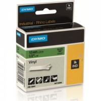 Dymo Rhino 18441 Black on Green Vinyl Tape - 12mm --- DISCONTINUED ---