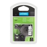 Dymo 16960 Black On White Polyester D1 Tape - 19mm