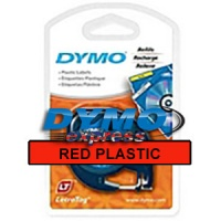 Dymo 91203 Red Plastic LetraTAG Tape